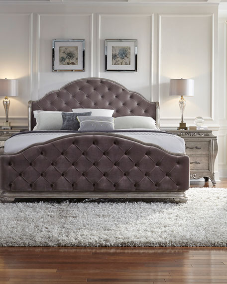 Bella Terra Tufted Queen Bed