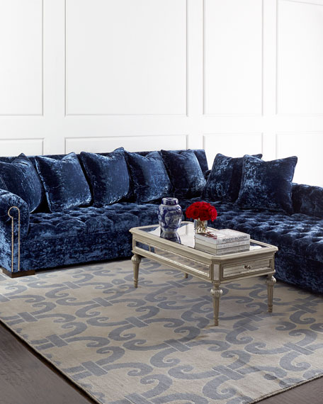 Divine Crushed Velvet Right Chaise Sectional 114""