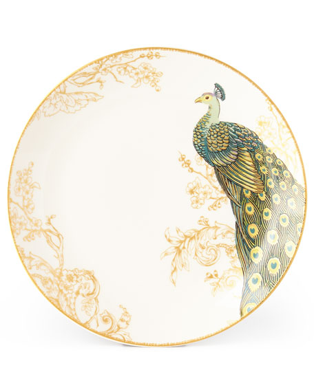 16-Piece Serene Peacock Dinnerware Service