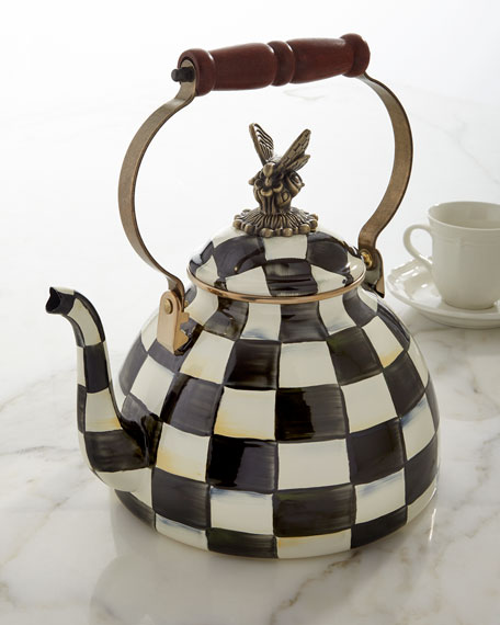 Courtly Check 3-Quart Tea Kettle with Butterfly