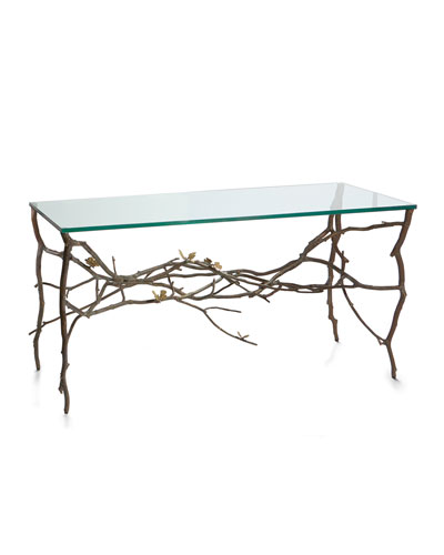 Butterfly Ginkgo Console Table