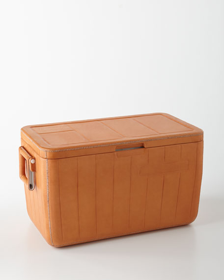 Natural Medium Cooler with Side Handles