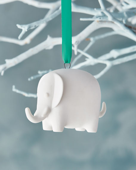 White Elephant Christmas Ornament