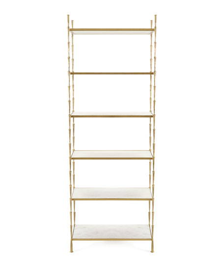 Kula Antiqued-Brass Etagere
