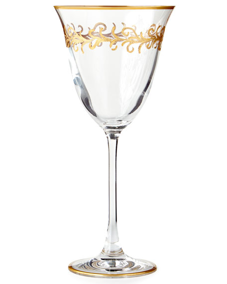 """""""Oro Bello"""" Water Goblets, Set of 4"""