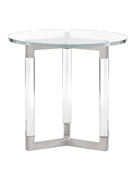 bernhardt salon stainless steel side table. Black Bedroom Furniture Sets. Home Design Ideas