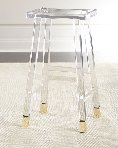 Interlude Home Dyer Acrylic Barstool Amp Counter Stool