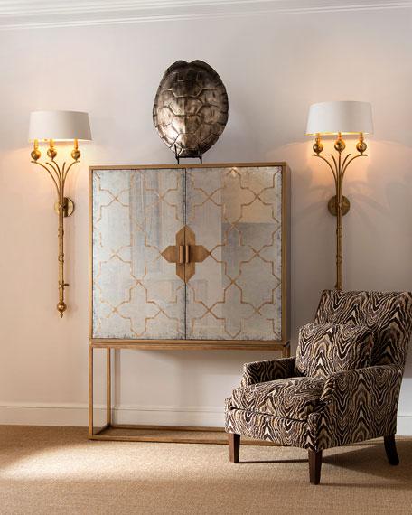 John-Richard Collection Roma Eglomise Cabinet