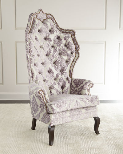 Antoinette Lilac Tufted Chair
