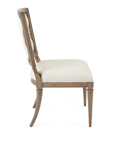 Linen Clover Side Chair