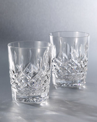 Lismore Clear Double Old-Fashioneds  Set of 2
