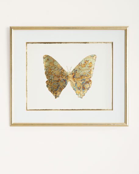 """Shimmering Butterfly V"" Artwork"