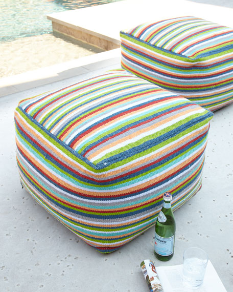 Stripe Outdoor Pouf