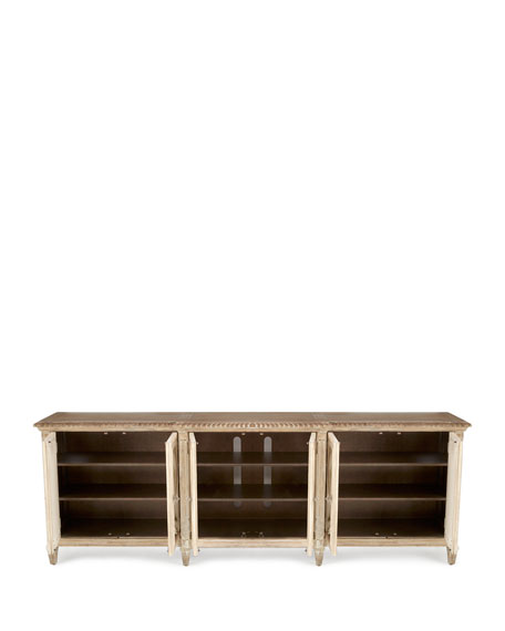Lonnie 6-Door Mirrored Console