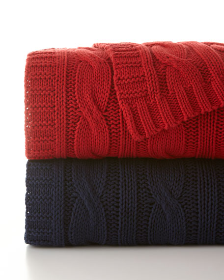 Comfy Cable-Knit Throw