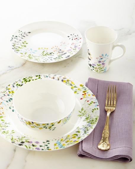 16 piece taupe bianca leaf dinnerware service - Tivoli kitchenware ...