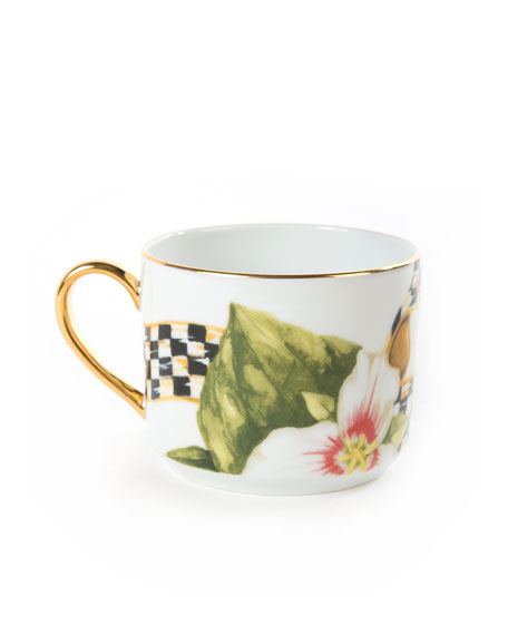 MacKenzie-Childs Thistle & Bee Teacup