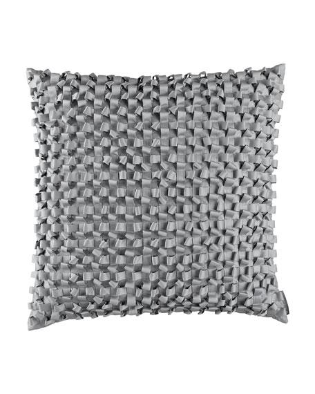 "Ribbon Pillow, 20""Sq."