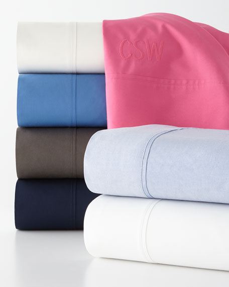 Two Standard 464TC Percale Pillowcases