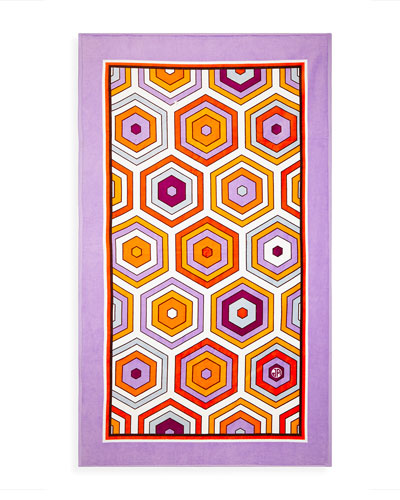 Honeycomb Beach Towel  Lavender
