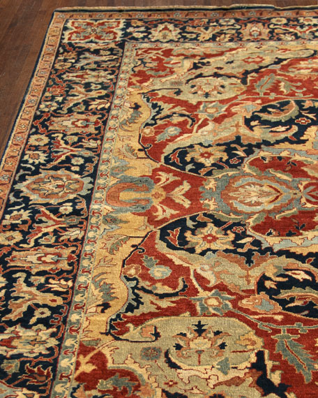 Exquisite Rugs Bergeron Antiqued Weave Serapi Rug, 8'