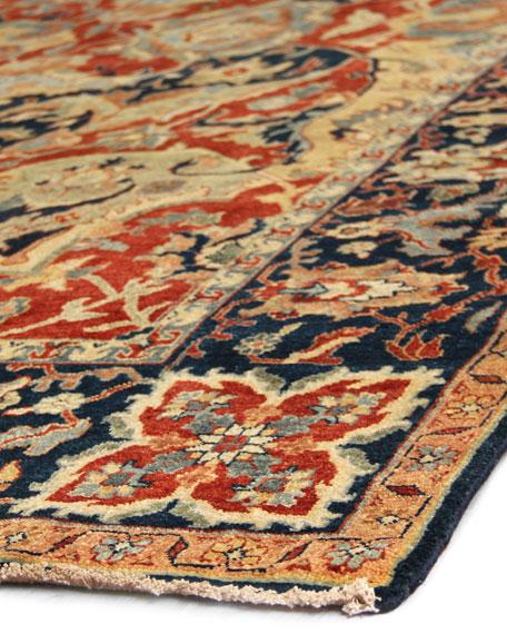 Bergeron Antiqued Weave Serapi Rug, 12' x 15'