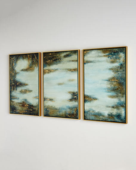 """""""Begin Again"""" Triptych Painting"""