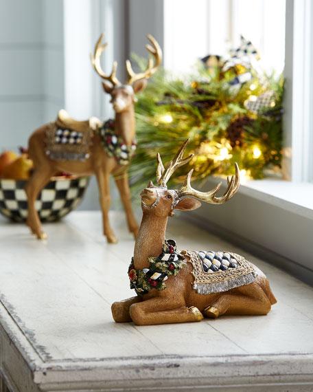 Resting Tawny Stag Figurine