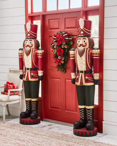 Vintage-Charm Toy Soldier with LED lights, 6'3