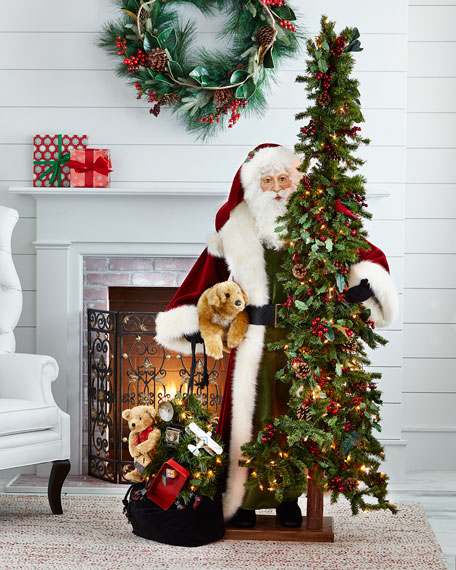 Limited-Edition Father Christmas with Tree, Toys & Puppy