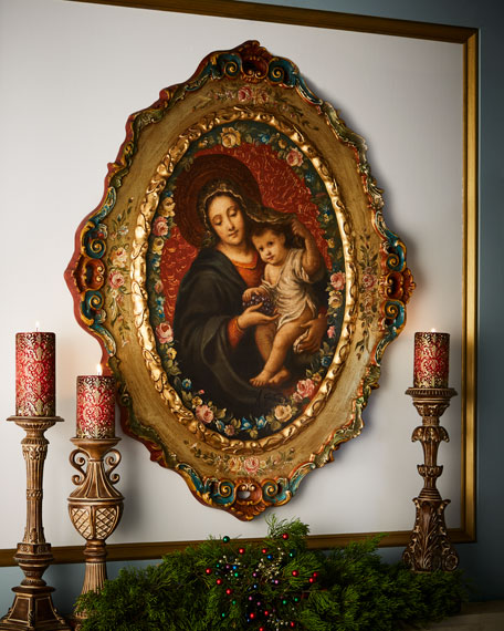 Selli Gabriello Madonna and Child Oval Painting