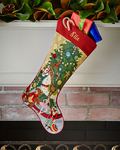 Christmas Toys Needlepoint Stocking