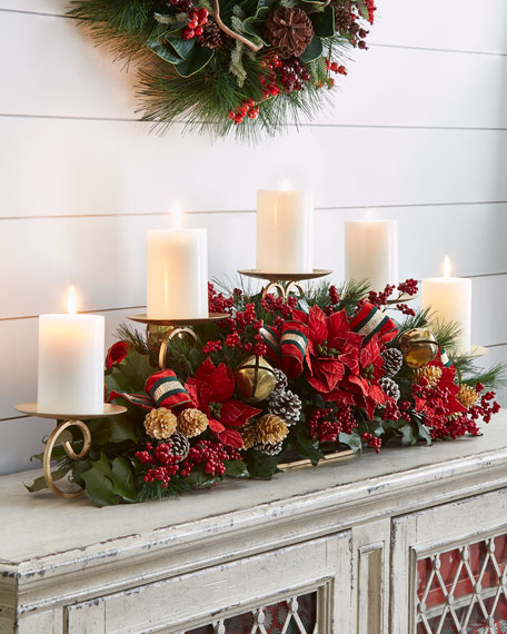"Red & Green Collection 52"" Candle Rail"
