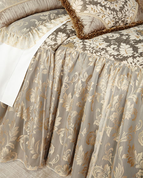 Dian Austin Couture Home King Elegance Skirted Coverlet