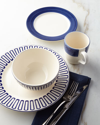 16-Piece Blue Dinnerware Service