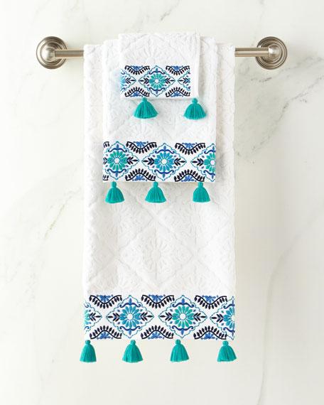 John Robshaw Aloka Blue Hand Towel