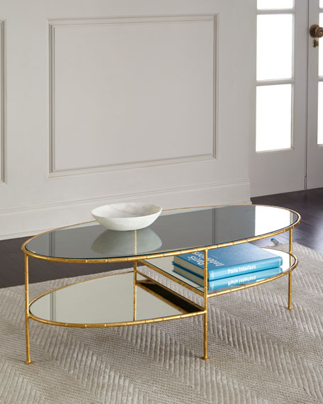 Chief Gold Leaf Mirrored Coffee Table