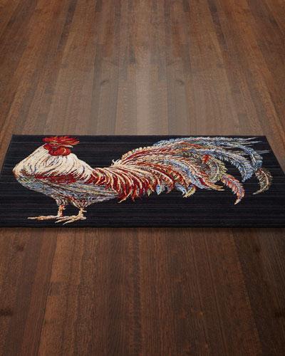 Gallen Rooster Accent Mat, 3' x 5'