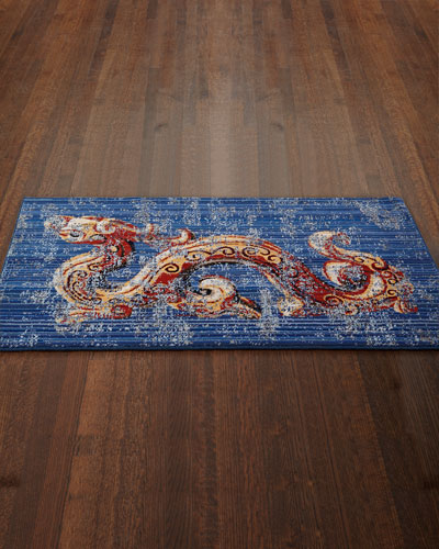 Drake the Dragon Accent Mat, 3' x 5'