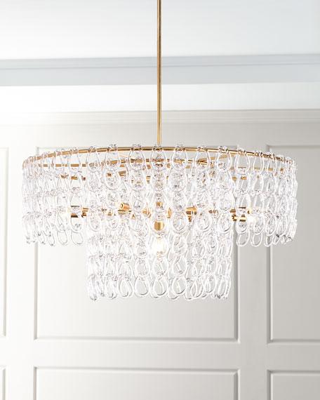 Crystal Chain 13-Light Pendant