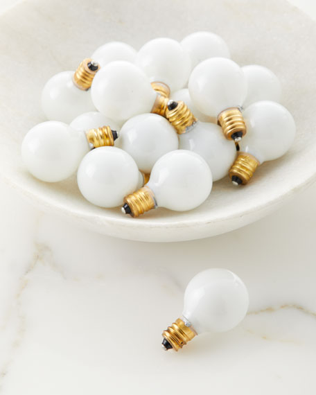 Globe Type Bulbs, Set of 18