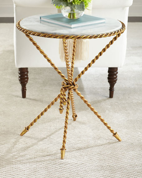 Tazio Marble-Top Side Table