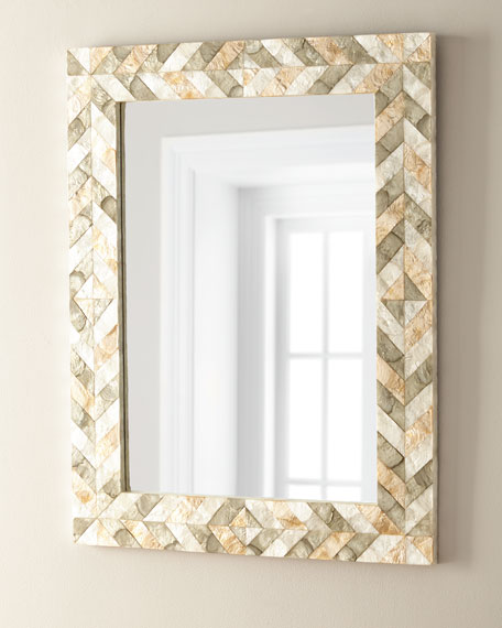 Arrowhead Capiz Shell Mirror