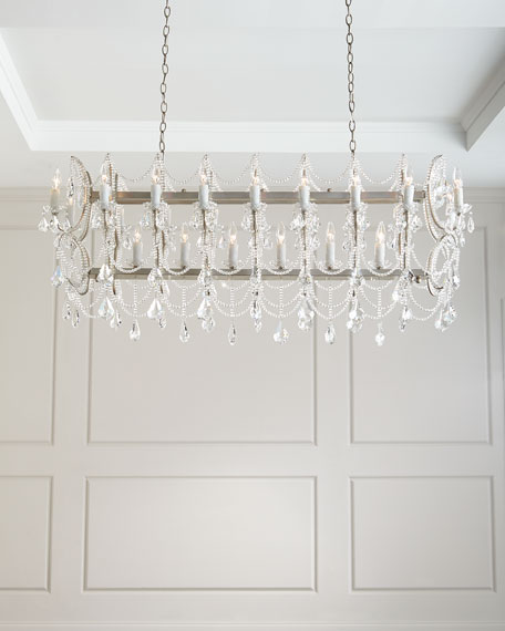 Long Crystal Chandelier