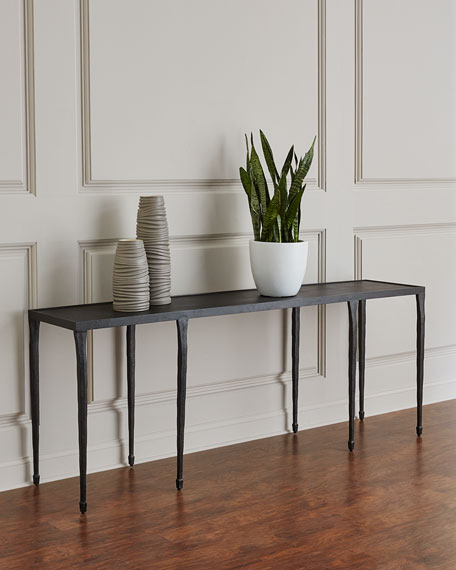 Bernhardt Halden Wrought Iron Console Table