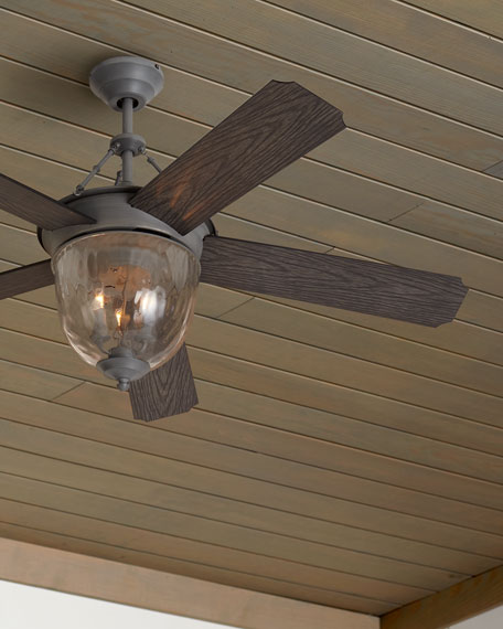Aged Galvanized Knightsbridge Indoor/Out Ceiling Fan, 52""