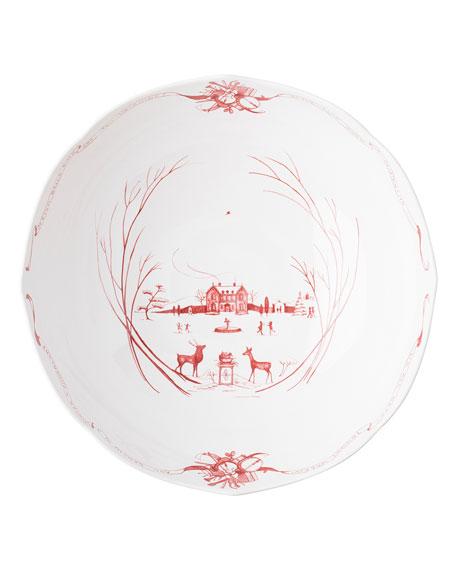 Juliska Country Estate Winter Frolic Ruby Centerpiece Bowl