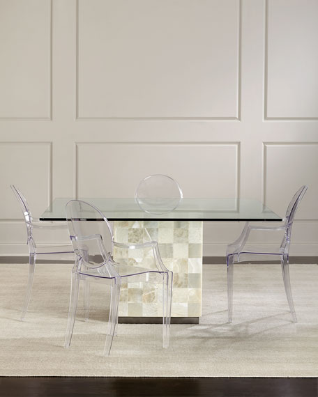 Pair of Clarisa Acrylic Dining Arm Chairs