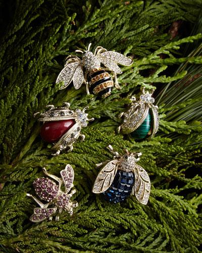 Mini Bug Clip Set, Jewel Tone