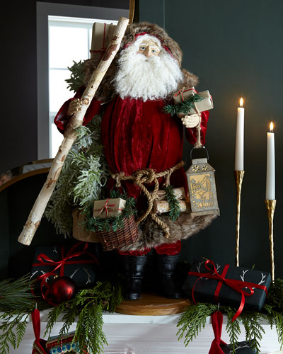 Lynn Haney Woodland Santa Figure